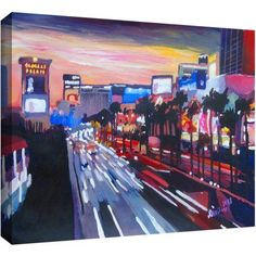 ArtWall Martina and Markus Bleichner Vegas 2 inch Gallery-Wrapped Canvas, Size: 16 x 24, Multicolor