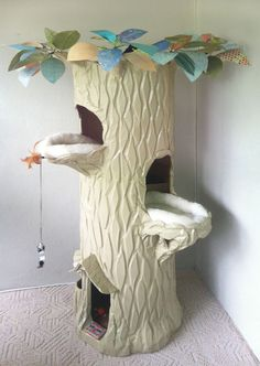 Recycled cardboard spiral staircase cat houses handmade and shiped all around the world. $1,500- gaylewray@yahoo.com