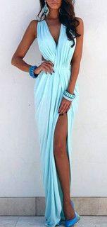 ELDA MAXI DRESS in PASTEL MINT