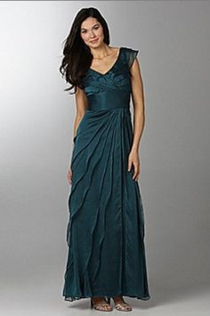 Enchanting Column Mother of the Bride Dress with Tiered Ruffles