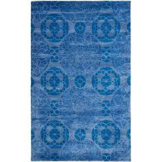 Safavieh Handmade Wyndham Blue Wool Rug (8'9 x 12') | Overstock.com Shopping - The Best Deals on 7x9 - 10x14 Rugs