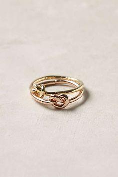 Endless Knot Ring Set