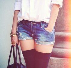 High stockings.