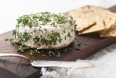 Gluten Free Vegan Garlic Herb Cheese Spread Recipe