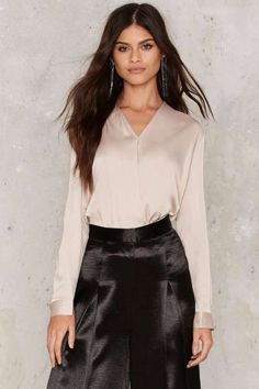 Glamorous Sometimes Always Satin Blouse - Blouses | Party Clothes | All Party