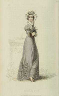 EKDuncan - My Fanciful Muse: Regency Era Fashions - Ackermann's Repository 1824 Steampunk Fashion, Victorian Fashion, Vintage Fashion, Victorian Dresses, Victorian Gothic, Gothic Lolita, Regency Dress, Regency Era, Civil War Dress