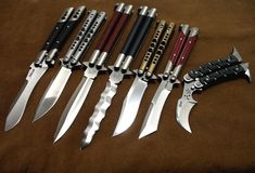 Butterfly effect... Pretty Knives, Cool Knives, Knives And Swords, Butterfly Knife, Best Pocket Knife, Handmade Knives, Weapons Guns, Custom Knives, Survival Knife