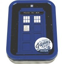 Doctor Who Tardis puzzle in a tin