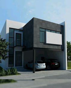 Modern House Design 787989266039449249 - Source by rosaadrianabenitez 2 Storey House Design, Duplex House Design, House Front Design, Small House Design, Modern House Design, My House Plans, Modern House Plans, Small House Plans, Minimalist House Design