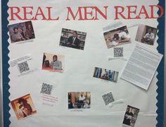 Real Men Read Bulletin Board - Post images of athletes, politicians, actors reading novels.