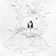 Monochromatic White Layout for Kerri Bradford