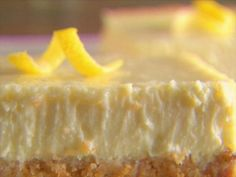 Get Limoncello Cheesecake Squares Recipe from Food Network