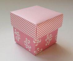 Pink floral vintage Favour Box