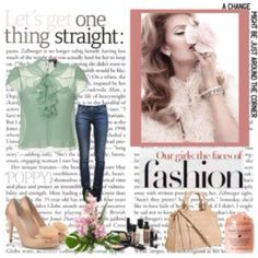 Created this look via Polyvore ~ A great tool for combining your looks. I will this as my look book collections.