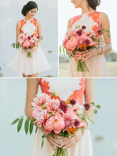 Styling Your Bridesmaids Along with Their Bouquets - photos by Apryl Ann