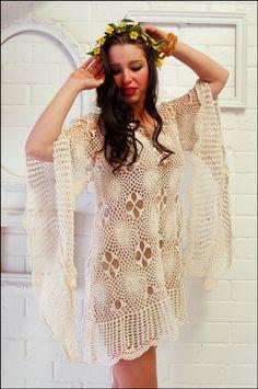 VINTAGE CROCHET DRESS      ♪ ♪ ... #inspiration #diy GB http://www.pinterest.com/gigibrazil/boards/
