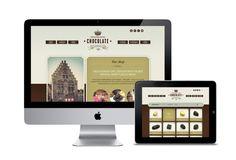 The Chocolate Crown website by Tim Bisschop, via Behance