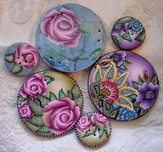 Polymer - And still more buttons.... | Flickr - Photo Sharing! by dixie 103.  Great color!
