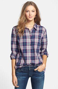Caslon® Long Sleeve Cotton Shirt (Regular & Petite) available at #Nordstrom