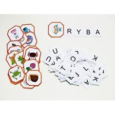 Skládání slov 2 - slova ze 4 písmen, strukturované obrázky