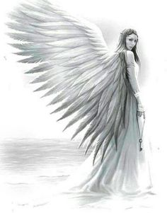 Pin by draw, paint & capture on angel drawings рисунок с ангелом, рисун Pencil Drawings, Art Drawings, Drawings Of Angels, Angel Drawing, Angel Tattoo Designs, Angel Warrior, Ange Demon, Angel Pictures, Angels And Demons