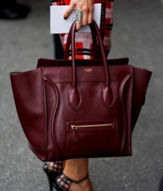 Oxblood Celine bag.    If only I could afford and justify purchasing this little beauty.