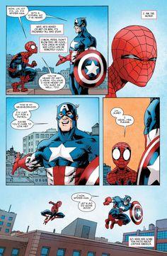 Spidey 10 Page 6 Funny Marvel Memes, Dc Memes, Marvel Jokes, Marvel Dc Comics, Marvel Heroes, Funny Comics, Geeks, Sakura Haruno, Comic Panels