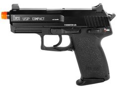 H KWA Compact Tactical USP Airsoft, NS2 System airsoft gun by Heckler & Koch. $144.95. This KWA gas blowback airsoft pistol is the most realistic full-scale USP on the airsoft market today. The gun is fully licensed by H and has the powerful NS2 gas delivery system for crisp blowback recoil and outstanding shot velocities. The gun also features a threaded outer barrel for attaching mock silencers, a 22 rd magazine, and a shot velocity of 310 fps (using .20g BBs...