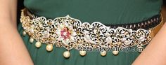 Diamond Floral Vaddanam by Reliance Jewels