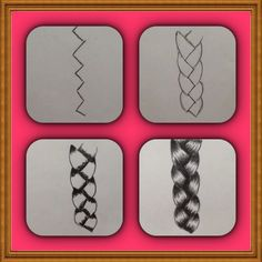 How to draw a braid ..