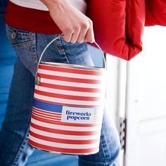 4th of july themed - recycled paint can