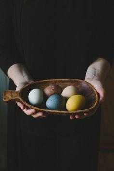 Naturligt färgade ägg ⚓