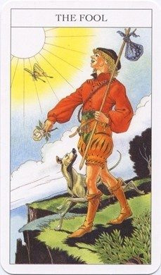 Fool card from the Sharman-Caselli Tarot dont click image