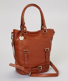 Take a look at this Chestnut Corrine Crossbody Bag by Rowallan on #zulily today!