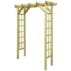 The pergola kits are the easiest and quickest way to build a garden pergola. There are lots of do it yourself pergola kits available to you so that anyone could easily put them together to construct a new structure at their backyard. Garden Arch Trellis, Garden Archway, Wood Trellis, Pergola Garden, Garden Gates, Garden Arbor With Gate, Trellis Gate, Flower Trellis, Outdoor Pergola