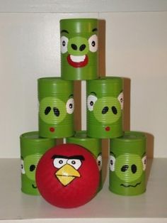 Angry Birds Can Toss Game using cans and paint. Would be a good idea for Kieran. He loves Angry Birds. I afraid I don't see what is so great about Angry Birds, but it might be a good idea for Kieran. Christmas Gifts For Boys, Handmade Christmas Gifts, Homemade Christmas, Christmas Diy, Christmas Presents, Kids Presents, Diy Gifts For 6 Year Old Boy, Diy Kid Gifts, Christmas Quotes