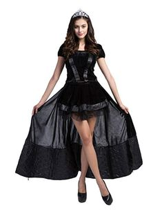 Females Girls Witch Dark Dress Outfit Halloween Cosplay Costume ef0a9a448843
