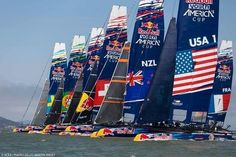 Red Bull America's Cup Youth sailing races in San Francisco Bay Sept 1-4, 2014