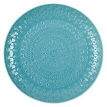 Buy John Lewis Persian BBQ Charger Plate, Dia.30cm, Turquoise Online at johnlewis.com