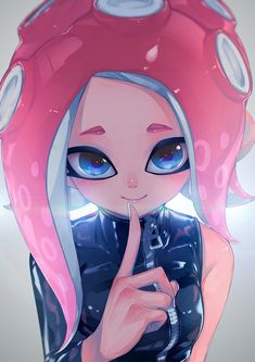 Splatoon Games, Splatoon Squid, Nintendo Splatoon, Splatoon 2 Art, Splatoon Comics, Marina Splatoon, Guerra Anime, Squid Girl, Video Games Girls