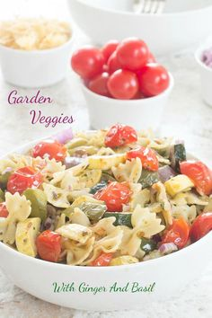 Garden Veggies Pasta made with Dorot Crushed GInger and Dorot Chopped Basil…