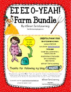 EI EI O-YEAH! Farm Bundle. 97 Pages of Farm Themed Activities from Smart Tarts Learning on TeachersNotebook.com -  - EI EI Oh YEAH!  Check out this QUACKtastic Farm Bundle. 97 pages of fun activities that is sure to put you over the MOOOOOn!
