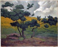 Landscape made in wood - Felix Vallotton