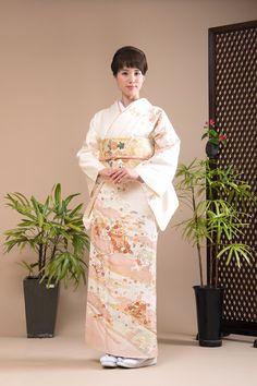 クリーム地のリーズナブルな正絹訪問着レンタル 品番h-85 | KIMONO-PRO京都