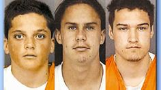 L to R, Jacob Delashmutt, 15; Joseph Fiorella, 16; Royce Casey, 17.  They raped…