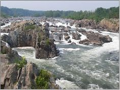 McLean, VA - At Great Falls Park, the Potomac River builds up speed and force as it falls over a series of steep, jagged rocks and flows through the narrow Mather Gorge. The Patowmack Canal offers a glimpse into the early history of this country. Great Falls Park has many opportunities to explore history and nature, all in a beautiful 800-acre park only 15 miles from the Nation's Capital.