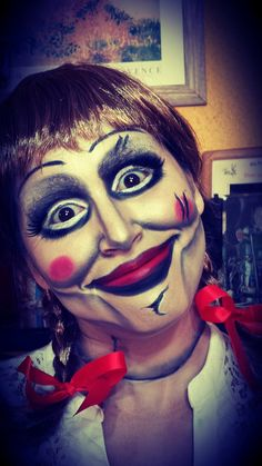 """""""The Conjuring"""" Doll Annabelle Makeup Tutorial / Maquillaje Muñeca Annab..."""