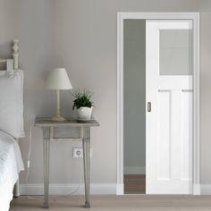 Single Pocket DX 1930u0027s Door With Obscure Safe Glass