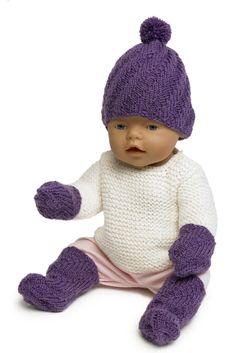Baby Bornin asustesetti Novita Nalle | Novita knits