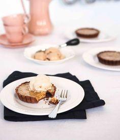 Australian Gourmet Traveller fare exchange recipe for walnut and Armagnac tart from Bistro Ortolan in Leichhardt, Sydney.